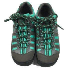 Keen aqua blue lace up hiking trail shoes sz 8